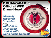 Drum-O-Pad AND Official WFD Logo Drum-head