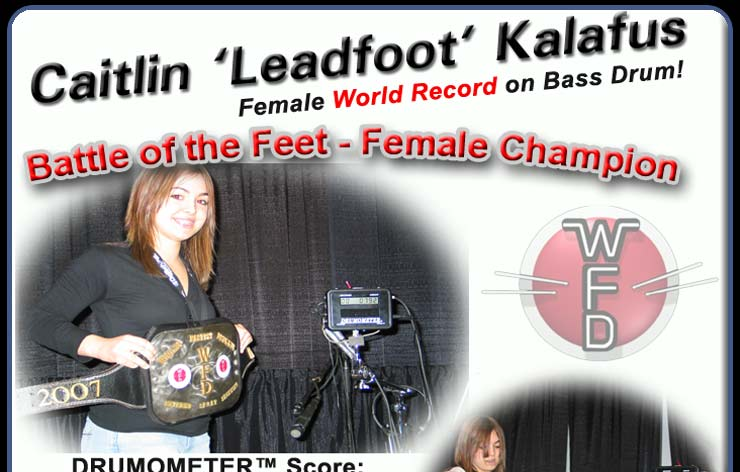 Miss WFD Competiton Champion: Caitlin Kalafus, Bass Drums